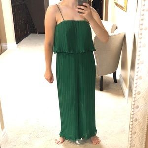 Green jumpsuit - worn once only!!!